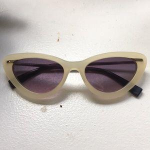 Derek Lam cater sunglasses ivory